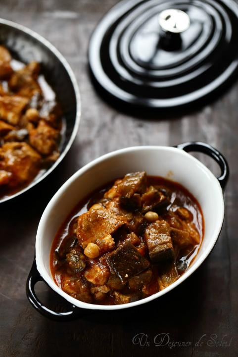 Koresh bademjan (cocotte de ragoût de viande aux aubergines)