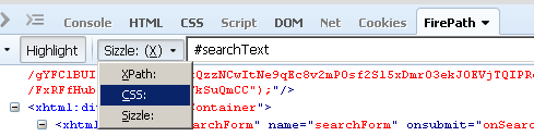 Firepath Selecting CSS