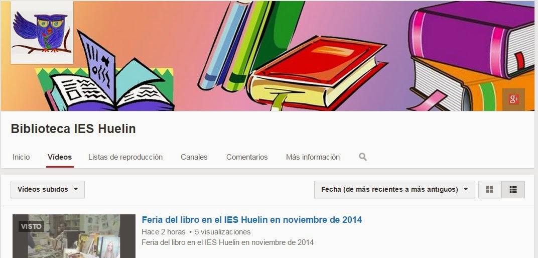 Canal de la Biblioteca en YouTube