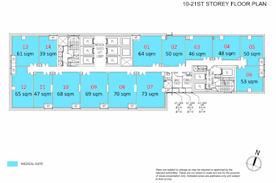 Royal Square @ Novena 8st storey Medical Suites floor plan