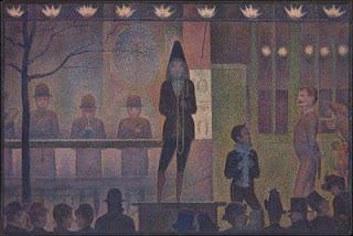 Arte Moderna - Circus Sideshow, por Georges Seurat