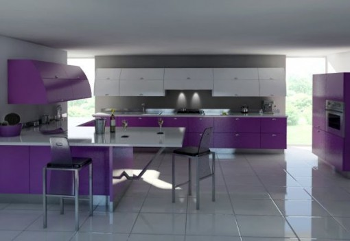 Kitchen Ideas Bright Or Pale Pink And Purple Are Smart Choices And Trends  In Modern Kitchen Design For The Period 2011 2012.