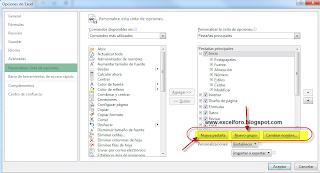 Personalizar la cinta de opciones (Ribbon) en Excel-sin macros.