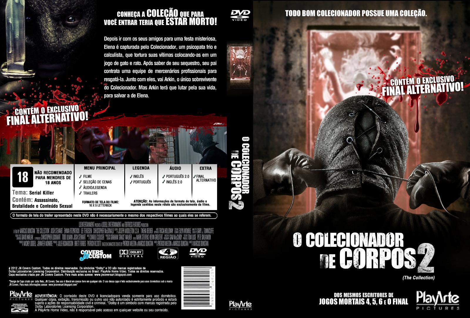 O Colecionador de Corpos 2 DVD Capa