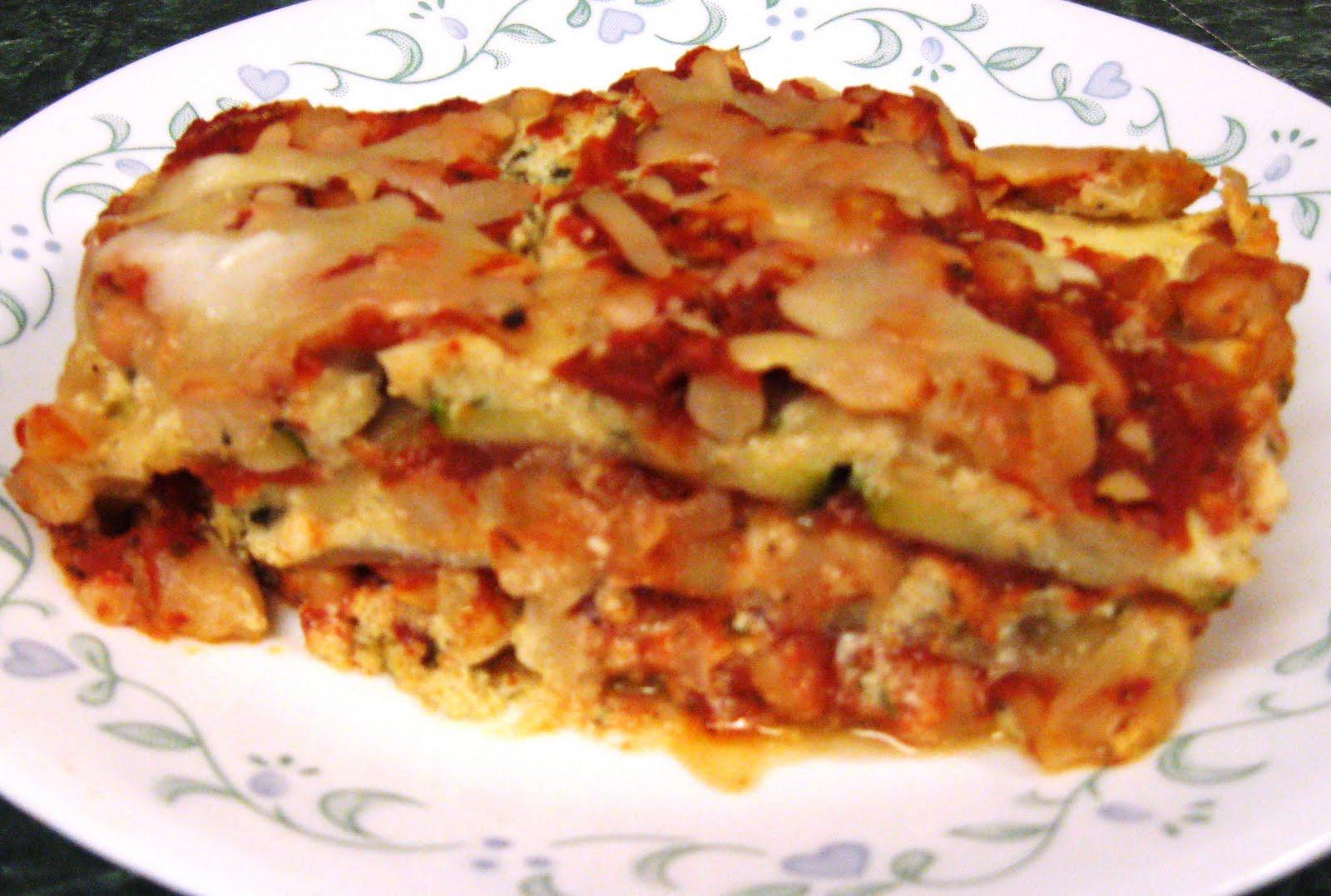 ... ... Healthy & Low Calorie: Vegetarian White Bean Zucchini Lasagna