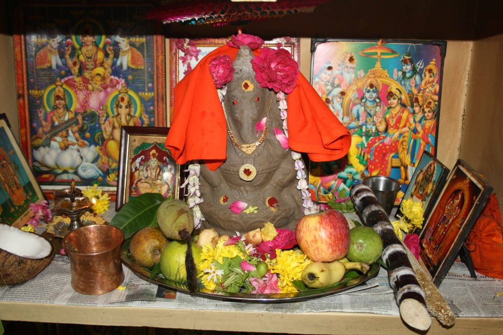 Image result for ganesh chaturthi home