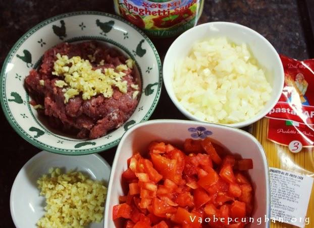 mỳ Ý sốt thịt bò băm 1