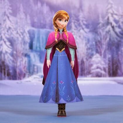 Disney frozen fan free anna paper printable - Anna elsa reine des neiges ...