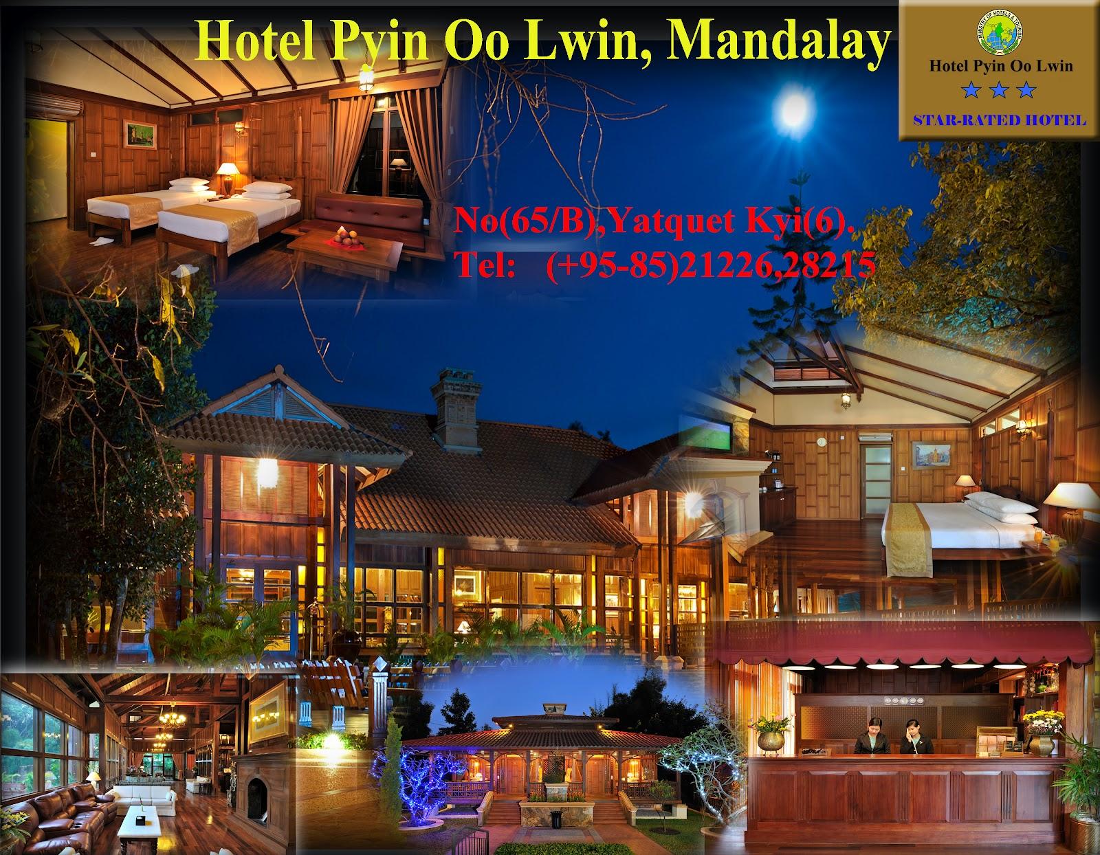 Hotel pyin oo lwin mandalay ministry of hotels for Hotel manin milano
