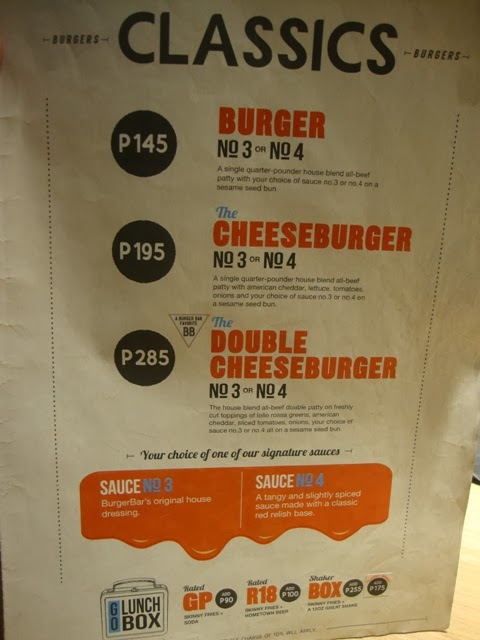 8 CUTS menu