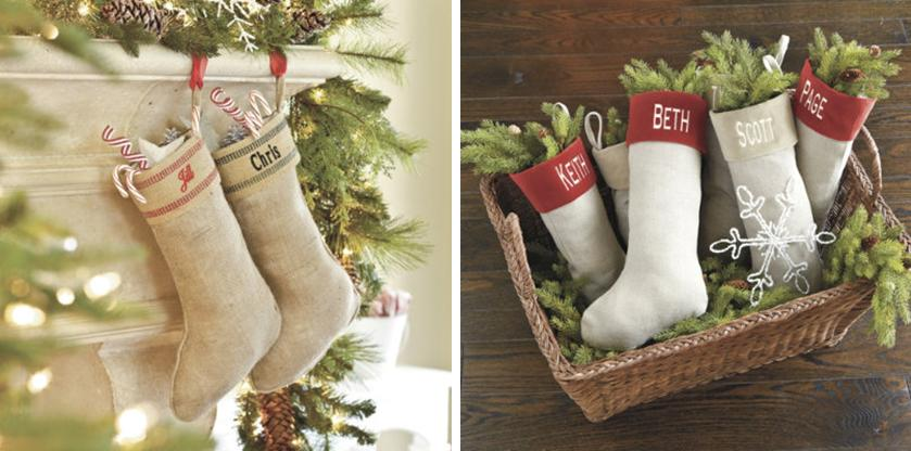 Cool From Suzanne Kaslerus Collection At Ballard Designs Burlap Stocking And Linen With Pottery Barn Woodland Stockings