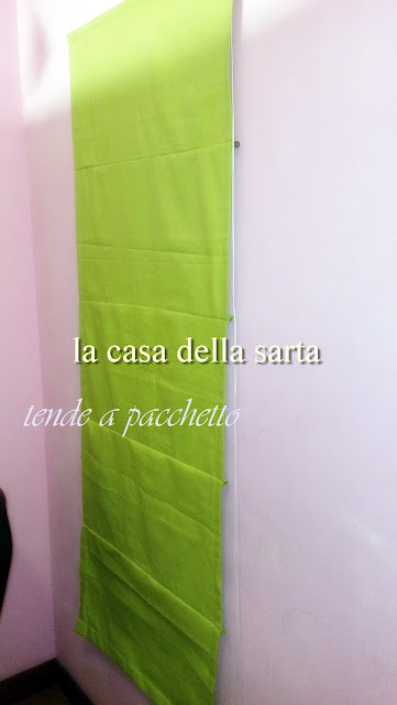 tende decorative a pacchetto verdi