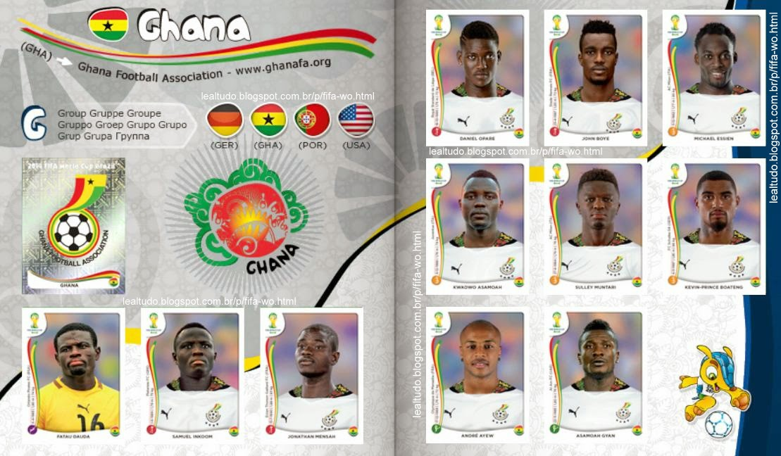 Album GHANA - GANA Fifa World Cup BRAZIL 2014 LIVE COPA DO MUNDO Sticker Figurinha Download Lealtudo