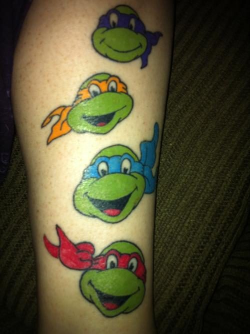 Ninja Turtle Face Paint Designs