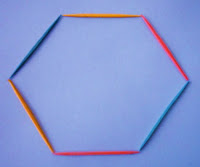 2-D figure - toothpick hexagon (Photo from Learning Workroom K-8)