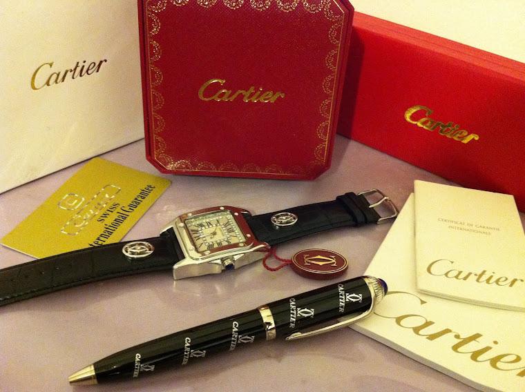 قلم  كارتير و ساعة كارتير تقليد بالعلبه و الكرت و الكاتلوج