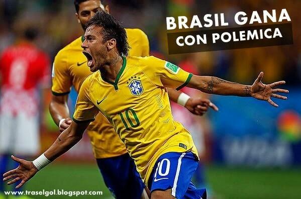 Brasil gana con polémica