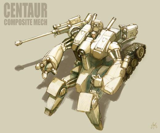 Centauroid Mech por MikeDoscher