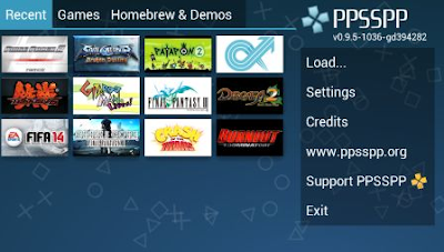 Free download Android PSP Emulator terbaik ringan terbaru FULL data Games PS