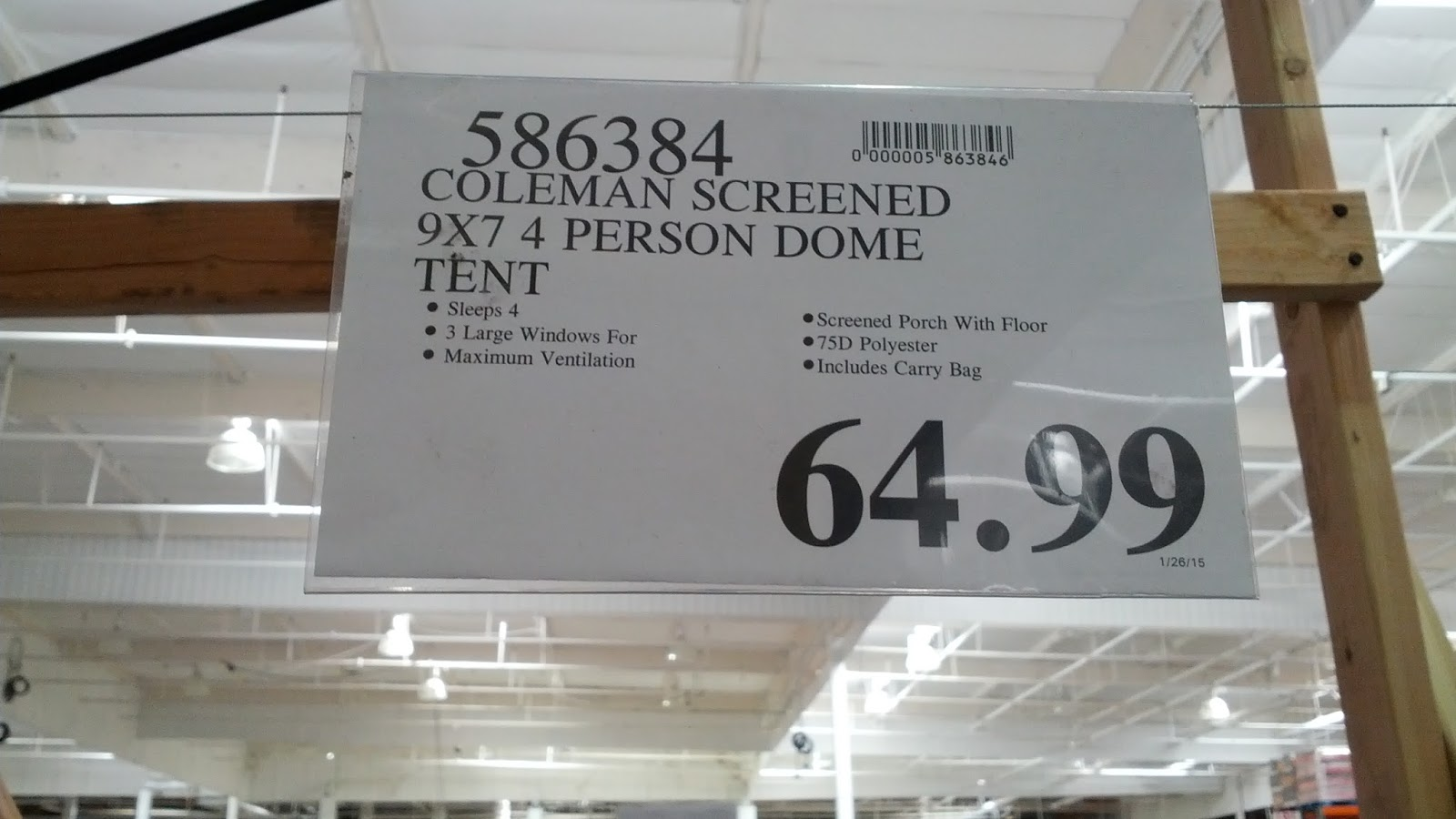 Set up is easy with the Coleman Screened 4 person Dome Evanston Tent & Coleman Screened 4-person Dome Evanston Tent | Costco Weekender