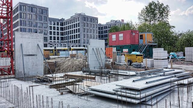 Baustelle City Carré, Wohnungen mit Weitblick, Gartenstraße, Am Nordbahnhof, 10115 Berlin, 19.10.2014