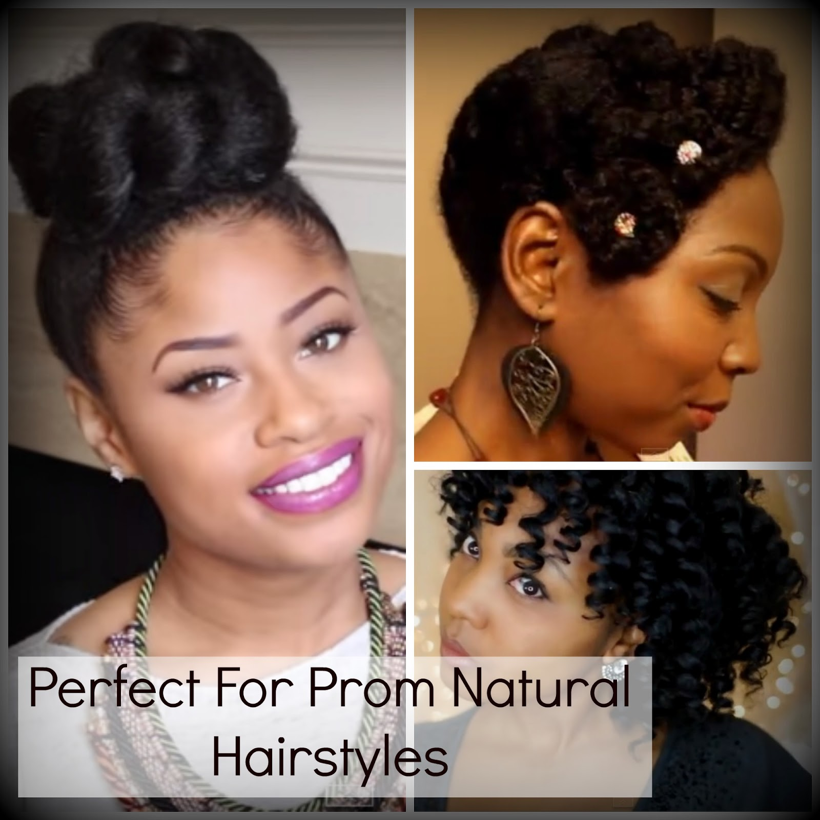 Perfect For Prom Natural Hairstyles