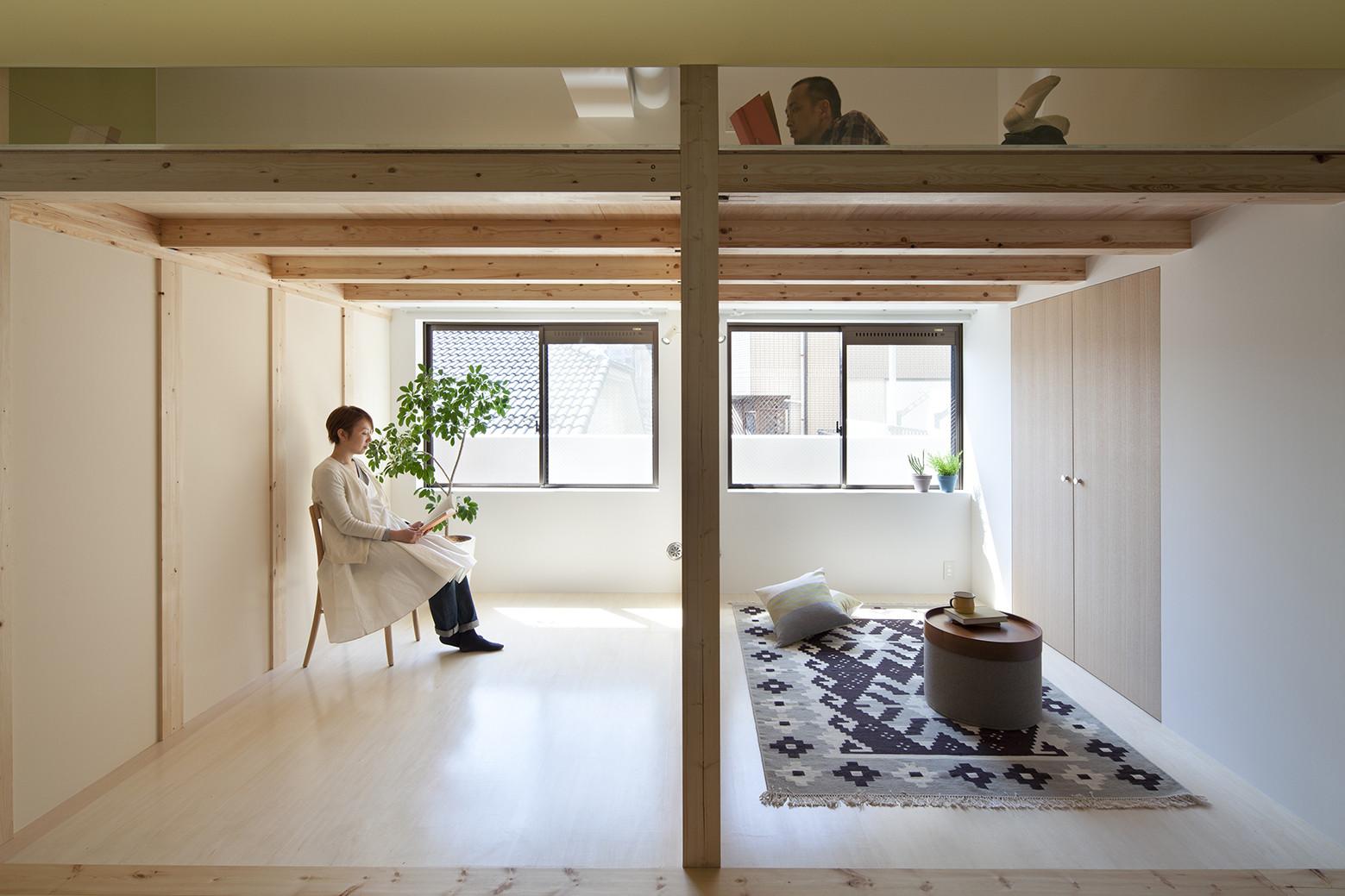 Casa a fujigaoka con camera soppalco by sinato architects - Soppalco in camera ...
