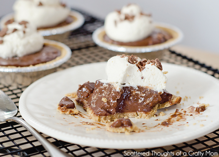 Mini Chocolate Pudding Pies (w/ Almond Milk) | Scattered Thoughts of a ...