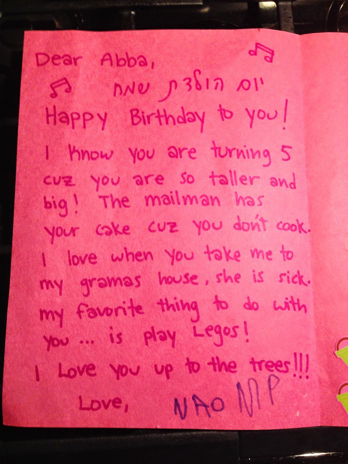 Baby bear hugs love letters from baby