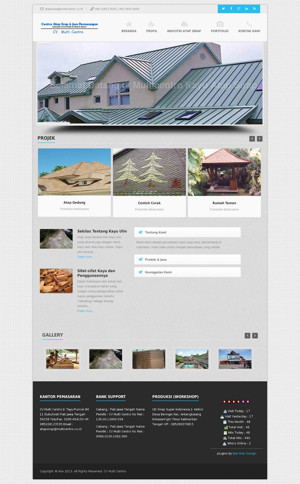 Contoh Website Profil Perusahaan