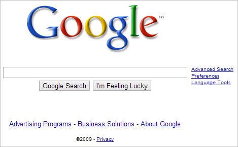 Google-website-in-2009