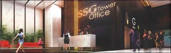 Sảnh chính văn phòng SSG Tower Bình Thạnh