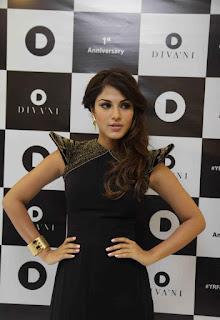 Rhea Chakraborty in a b eautiful Backless Sleevelss Black Dress At Divani 1st Anniversary