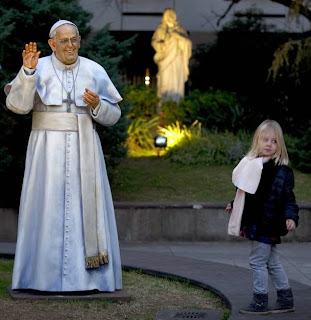 bad statue of pope