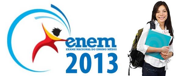 Abertas as inscrições para o ENEM 2013.