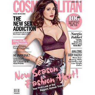 Nargis Fakhri in Brown Bikini Top for Cosmopolitan India August 2015 Issue