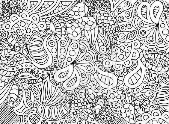 Complex Abstract Coloring Pages Printable : Free coloring pages of complex pattern