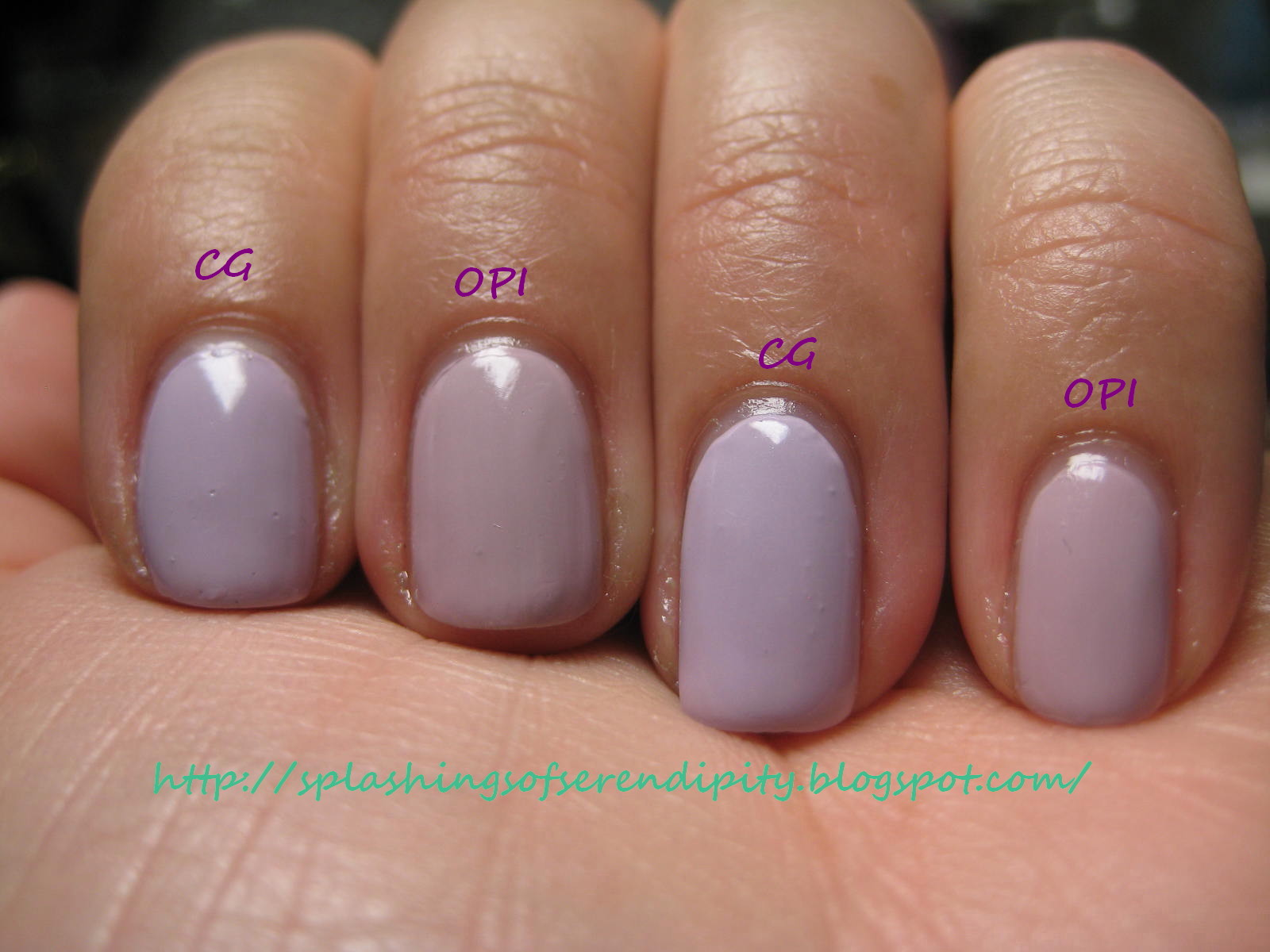 A Splash of Serendipity: Comparison - China Glaze Light as Air and ...