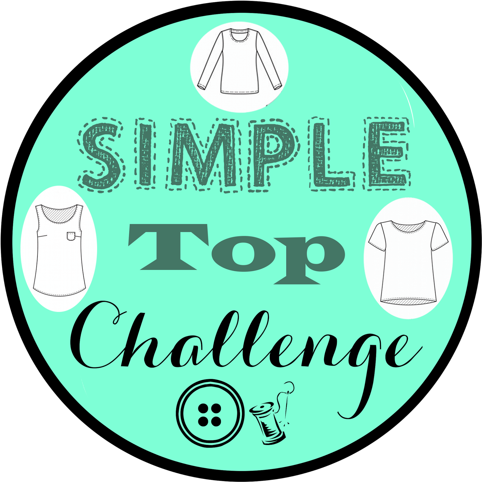 Simple Top Challenge Button: Diane's Vintage Zest!