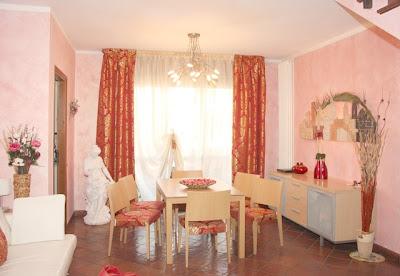 comedor paredes rosa
