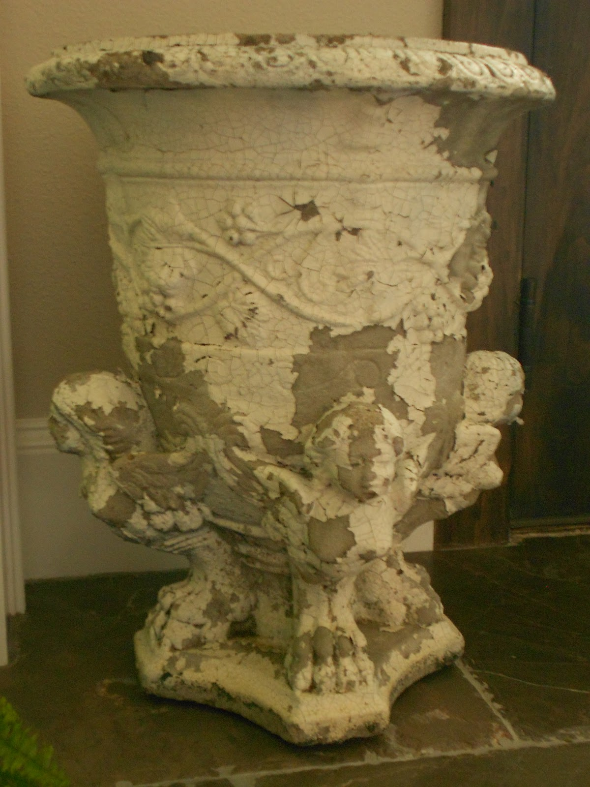 My Faux French Chateau: Unusual Vintage Garden Urn Added to My Faux ...