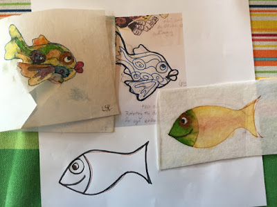 Design Sketches for Happy Fish by Karen Williams
