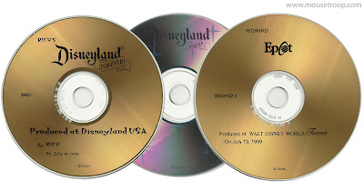 Disneyland Forever Walt Disney World CDs discs kiosks system