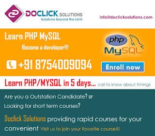 PHP/MYSQL training in coimbatore