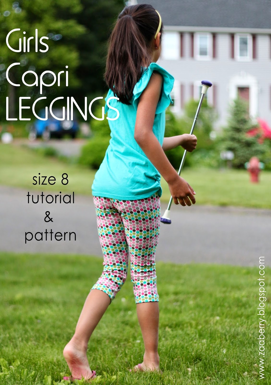 Zaaberry: Girls Capri Leggings - Free Pattern and Tutorial