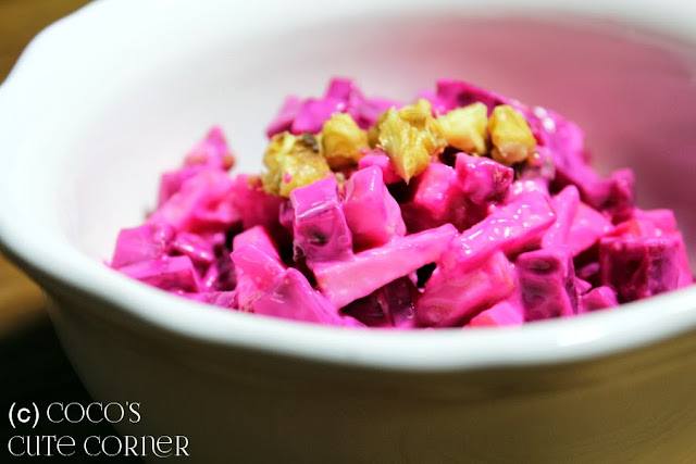 Beet Root Salad with Apple and Walnut