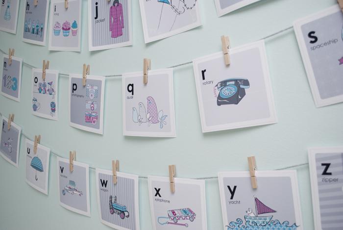 DIY baby flashcards