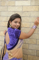 Actress Ashakumari Navel Show in Transparent Saree