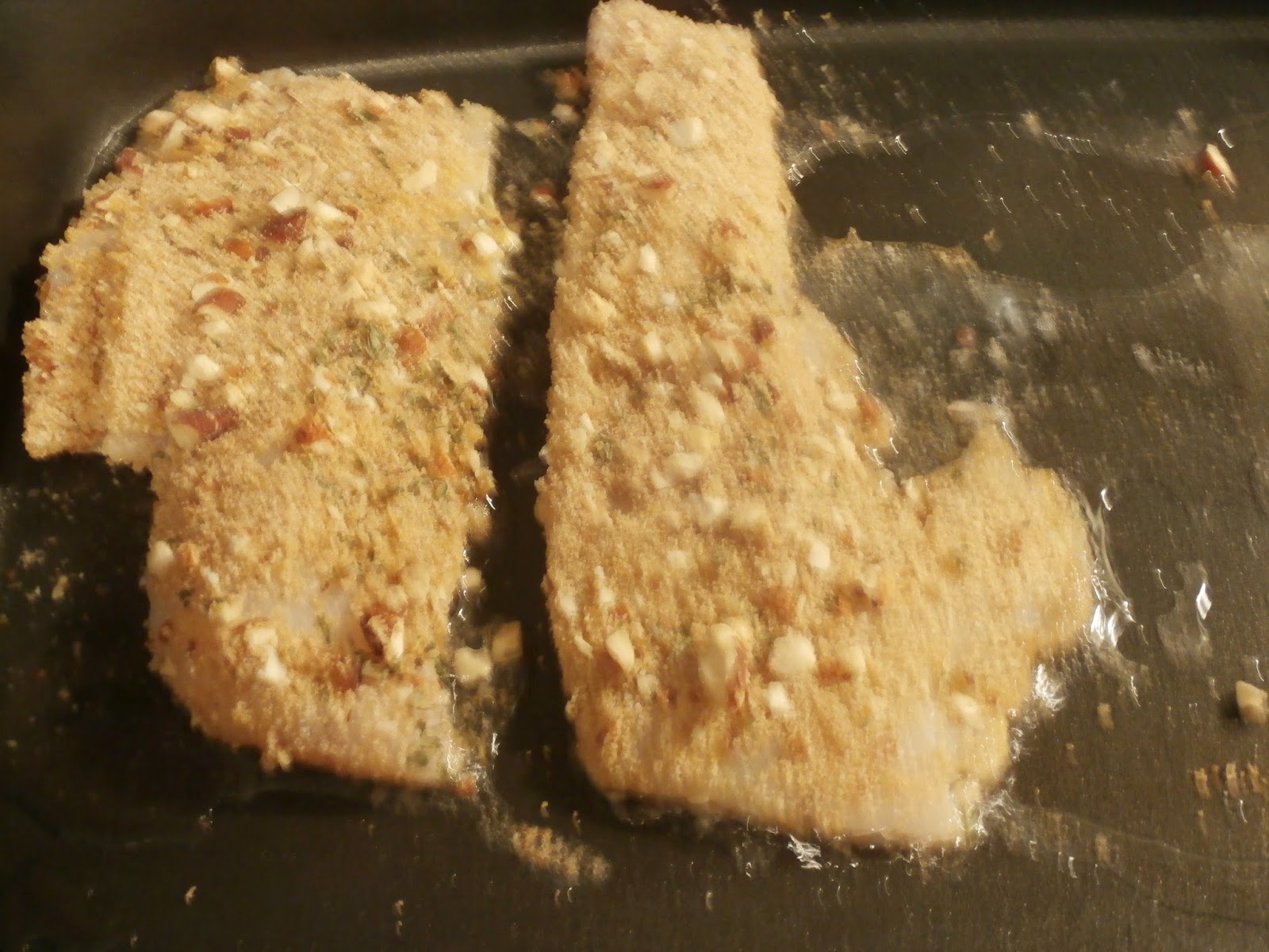 Sam S Place Almond Crusted Fish With Coconut Oil