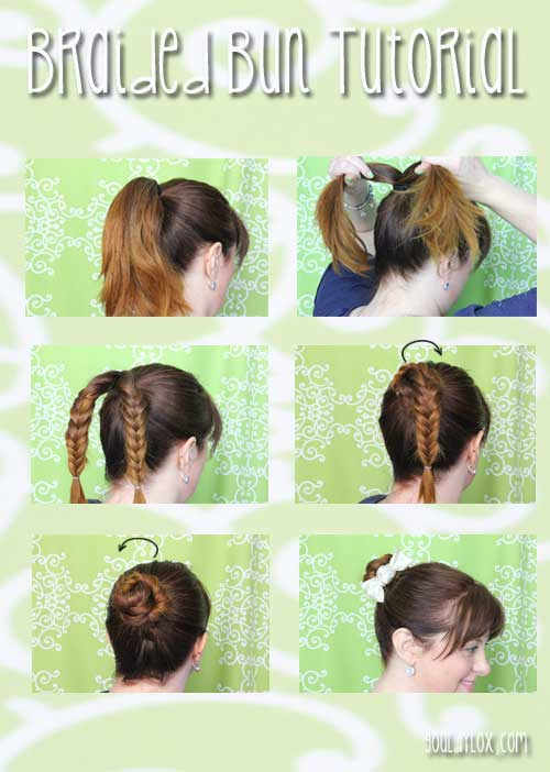 Really easy braided bun tutorial
